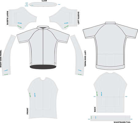 Velocity Jersey Mock ups and Artworks Patterns vectors Ilustração