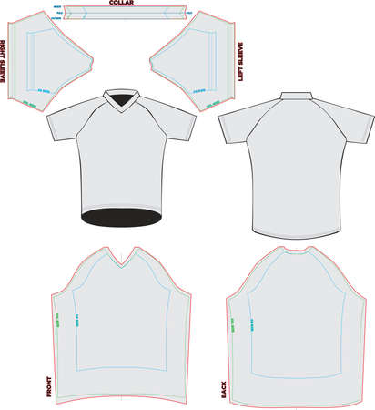 Trail Jersey Short Sleeve Mock ups and Artworks Patterns vectors