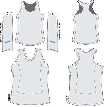 Women Tank top Mock ups and Artwork Pattern vectors