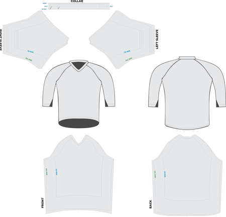 Trail Jersey Sleeve Mock ups and Artworks Patterns vectors