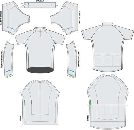 XC Short Sleeve Jersey Mock ups and Artworks Patterns illustrations