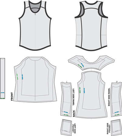 Tank Top Mock ups and Artwork Patterns illustrations Banco de Imagens