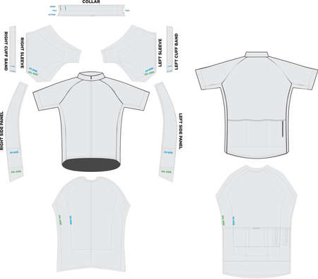 Pro Jersey Cycling Mock ups and Artwork Patterns illustrations