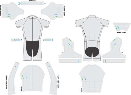 Velocity Suit Mock ups and Artworks Patterns illustrations