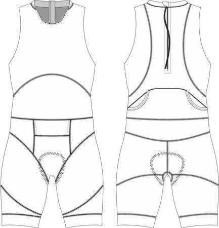ITU Custom Men Tri suit Mock ups templates vectors 向量圖像