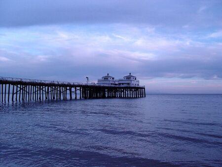 wooden dock: Malibu Pier