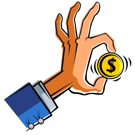 Hand with dollar.