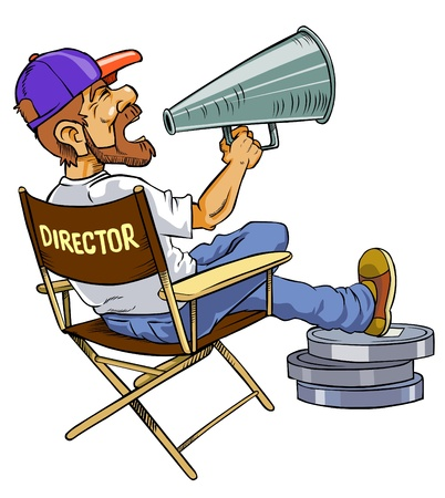 Movie director Banco de Imagens - 12827140