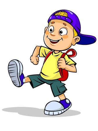 バックパック: 子供と一緒に学校のバッグ
