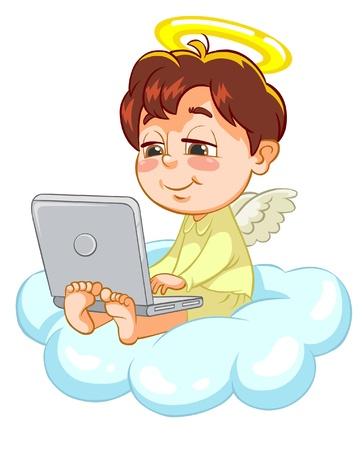 sayings: Illustratie van een Engel Stock Illustratie