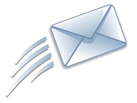 Vliegende envelop Vector Illustratie