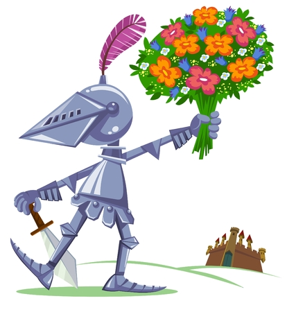 Knight with flowers
