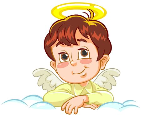 artificial wing: Angel with crossed arms Illustration