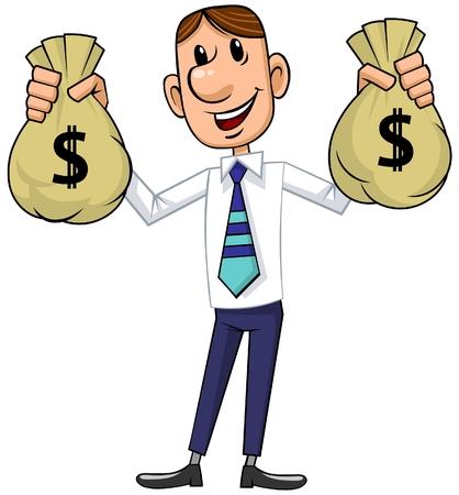 Businessman with Cash