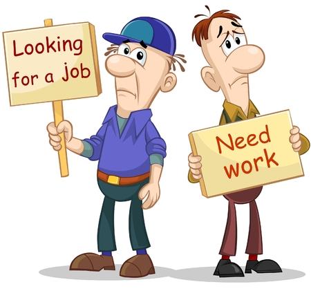 stubble: Two unemployed