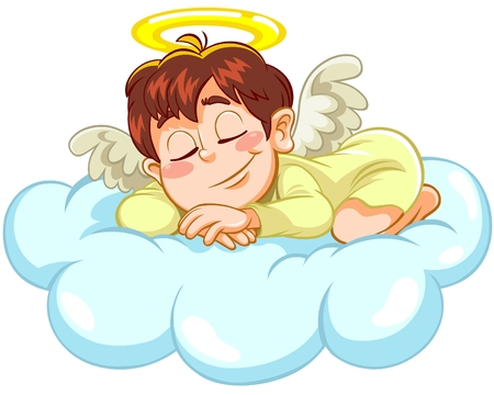 child sleeping: Angel sleeping Illustration