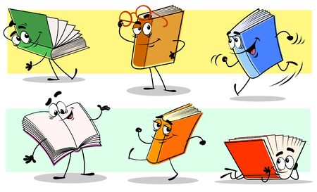 Books characters Ilustracja