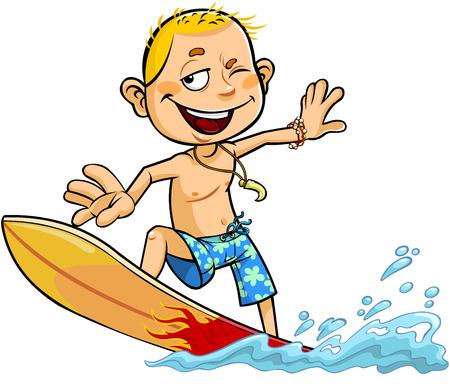 Boy on the surfboard