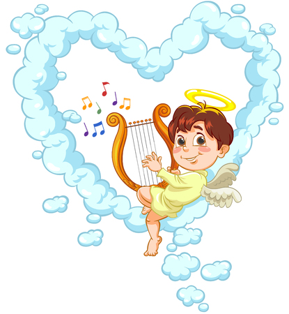 baby angel: Angelo e Arpa