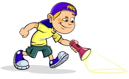 Boy with Flashlight.