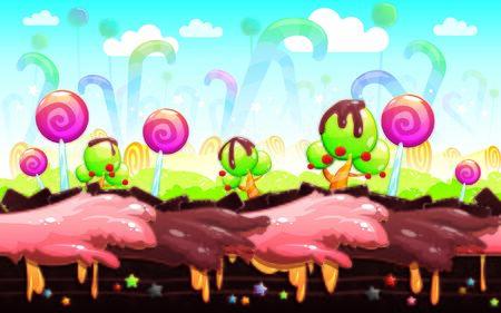 Candyland Background Illustration Suitable For Graphic Design Project