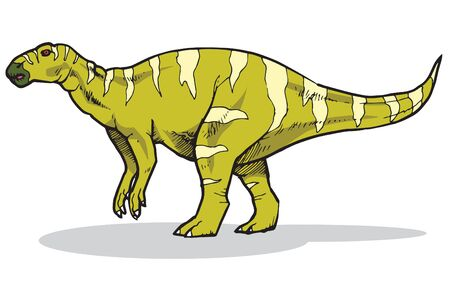 Iguanodon Vector Illustration Suitable For Graphic Design Project