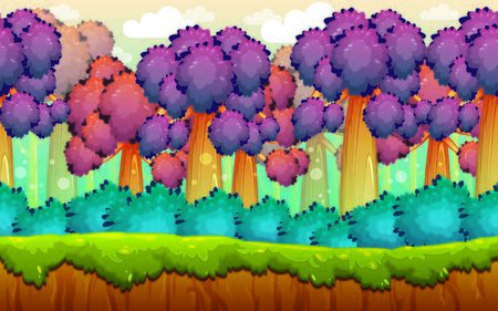 Jungle Background Illustration Suitable For Graphic Design Project