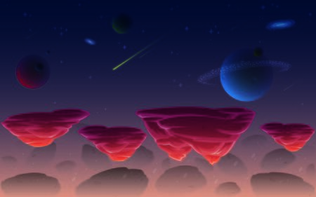 Space Background Illustration Suitable For Graphic Design Project