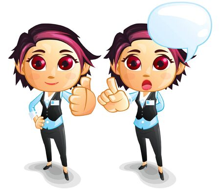 Female Vector Illustration Suitable For Graphic Design Project