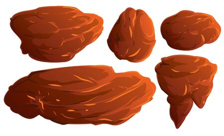 Set Of Rock Vector Illustration Suitable For Graphic Design Project