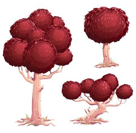 Tree Vector Illustration Suitable For Graphic Design Project Ilustração