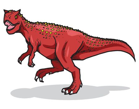 Xenotarsosaurus Vector Illustration Suitable For Graphic Design Project Illustration