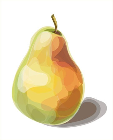 Pear on a white background. Vector