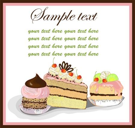 fruitcake: Illustrations of the cake. Menu. Illustration