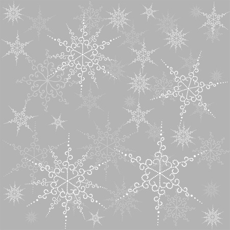 Seamless background with the image of beautiful snowflakes. Vector