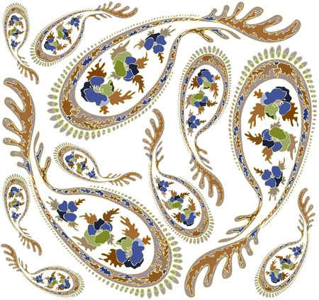 Seamless background from a paisley ornament, fashionable modern wallpaper or textile. Vector