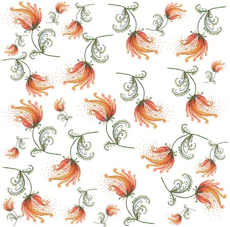 Seamless background from a flowers ornament, fashionable modern wallpaper or textile. Stock Vector - 8569350