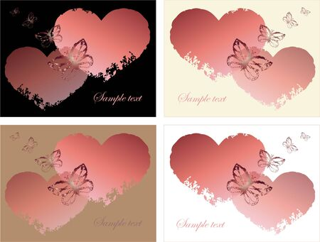Hand drawn valentines day greeting card. Decorative heart. Vector