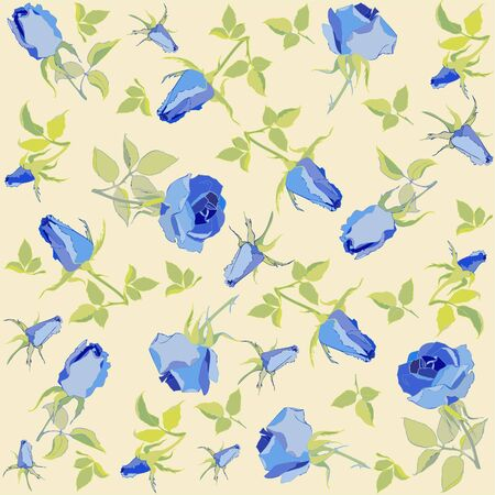 Seamless background from a flowers ornament, fashionable modern wallpaper or textile.Retro floral background.  Vector
