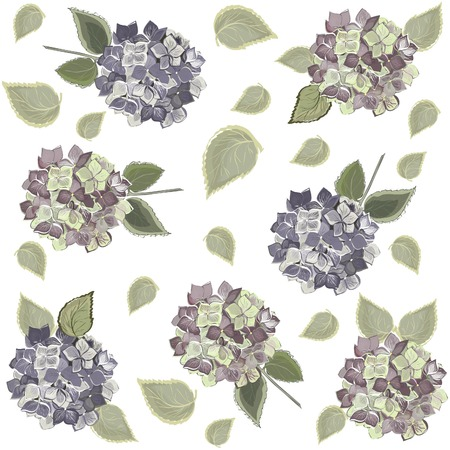 Seamless background from a flowers ornament, fashionable modern wallpaper or textile Vector