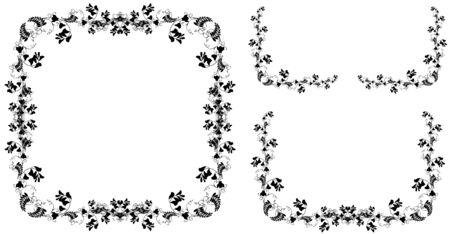 Hermoso marco decorativo con flores. Tarjeta de felicitación con guisantes fragantes.