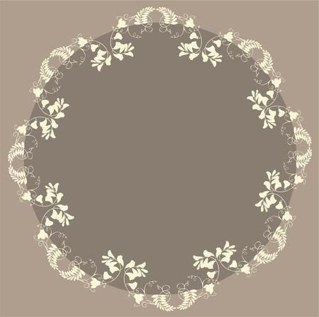 Beautiful decorative framework with flowers Stock Vector - 8982956