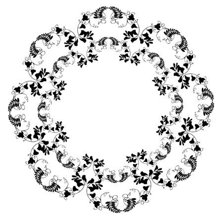 Beau cadre décoratif avec des fleurs.  Banque d'images - 9047703