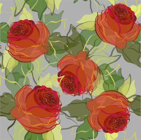 antique wallpaper: Retro floral background Illustration