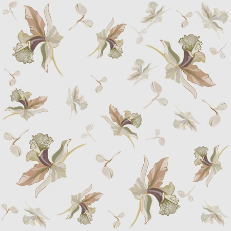 Seamless background from a flowers ornament, fashionable modern wallpaper or textile. Stock Vector - 9169473