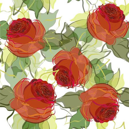 Beautiful illustration with roses. Vector
