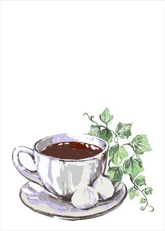 Coffee cup.Menu. Vector