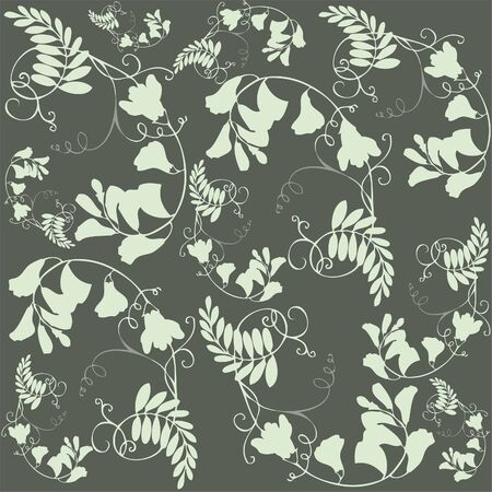 Seamless background from a flowers ornament, fashionable modern wallpaper or textile. Vector