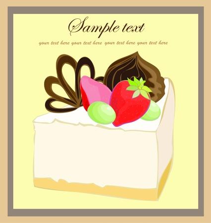fruitcake: Illustrations of the cake. Beautiful batch. Beautiful menu.