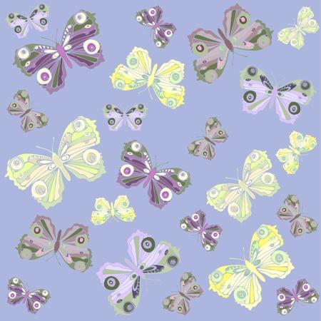 Seamless background. Illustration  butterflies. Beautiful  butterflies.    Vector